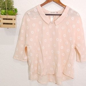 Hippocampe French brand Sweet Daisy print top M